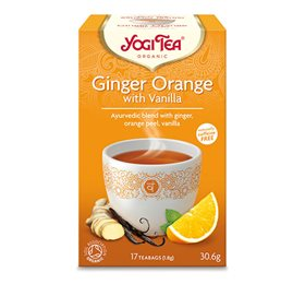 Yogi Tea Ginger orange with vanilla 17 breve - Hvornum
