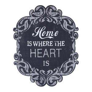 """Home is Where Heart is"" Temalı Duvar Dekoru"