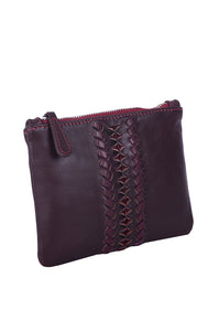 MINIX HANDBAG - BURGENDY LEATHER