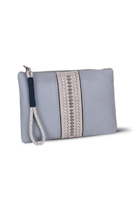 PITA CLUTCH - ICE BLUE LEATHER