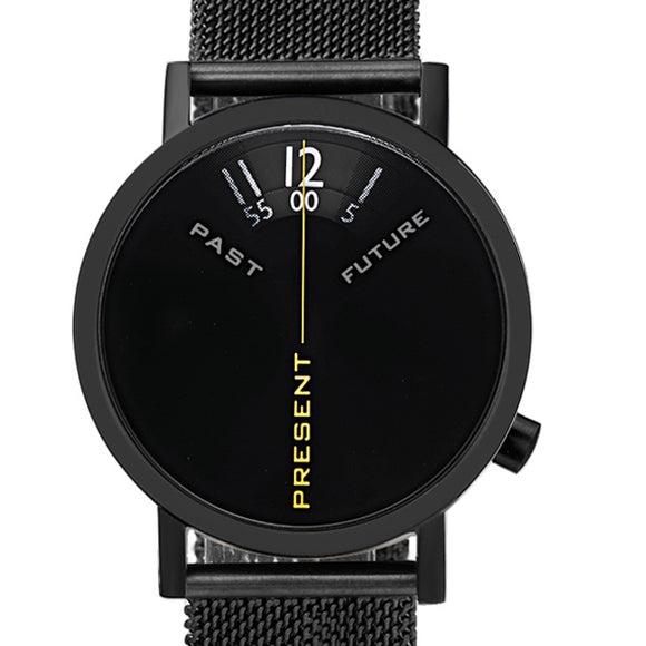 Projects Watches Past Present Future Black Mesh Kol Saati Unisex Kol Saati