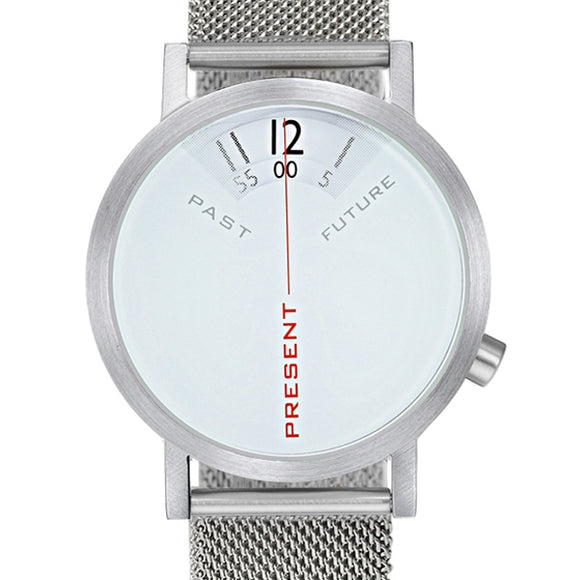 Projects Watches Past Present Future Steel Mesh Kol Saati Unisex Kol Saati