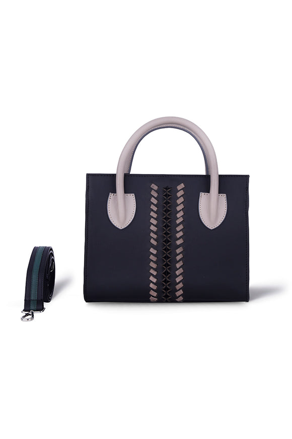 RENIE MINI TOTE- BLACK LEATHER