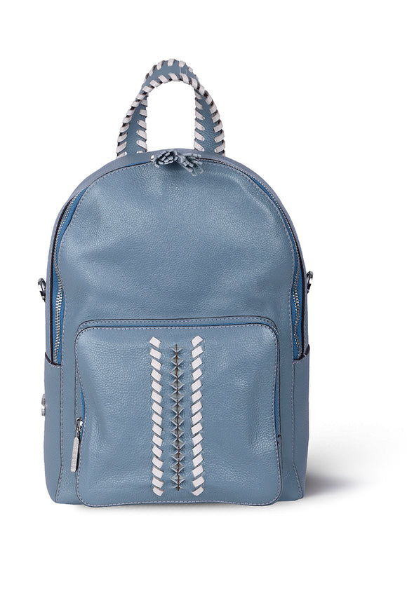SHEBO BACKPACK - PEARL BLUE LEATHER