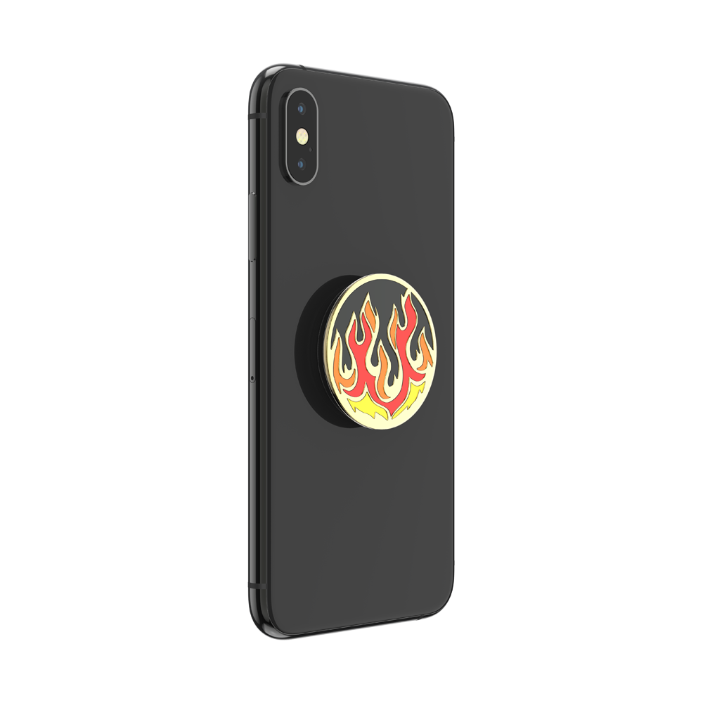 Flame on Black Enamel, PopSockets