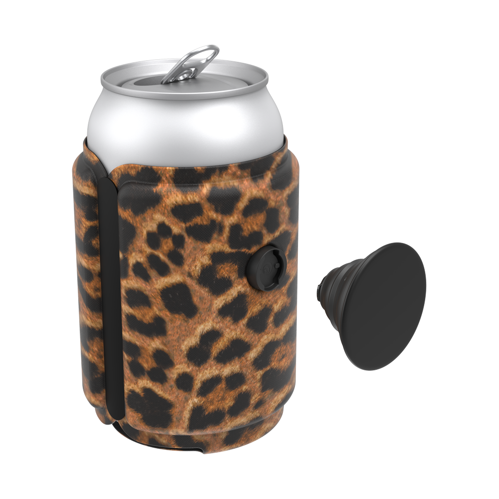 PopThirst Can Holder Leopard Prowl