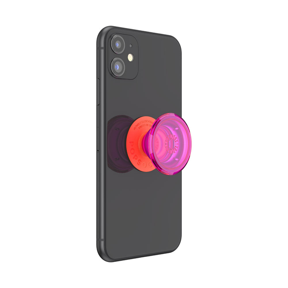 Neon Glow Electric Sunrise スマホグリップ, PopSockets