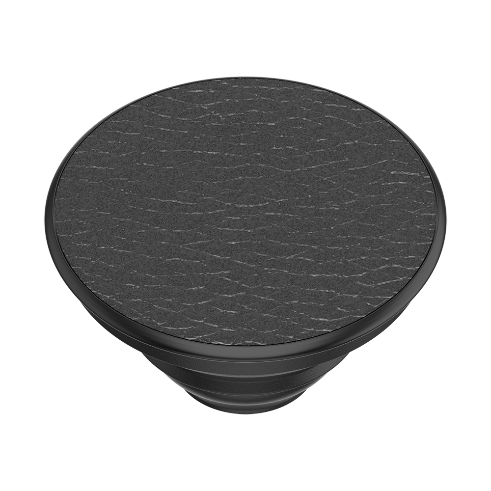 Pebbled Vegan Leather Black, PopSockets