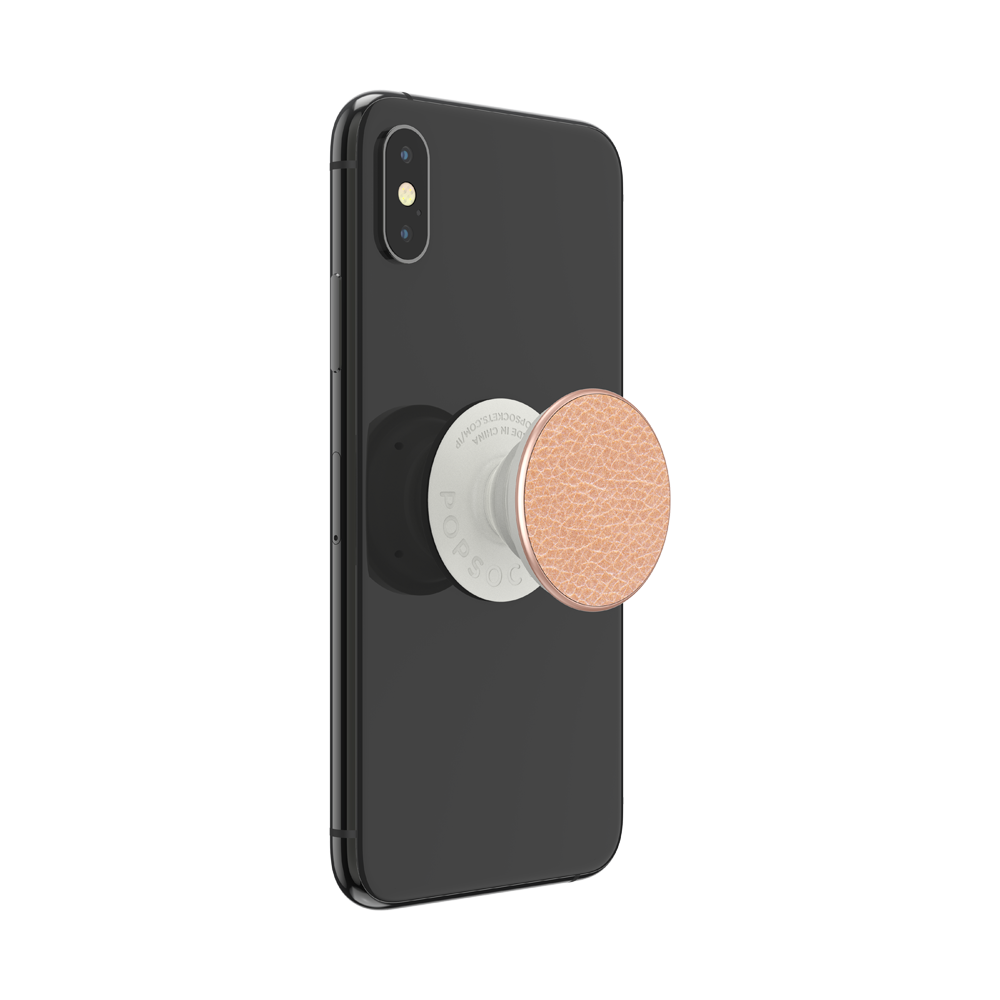 Pebbled Vegan Leather Rose Gold, PopSockets