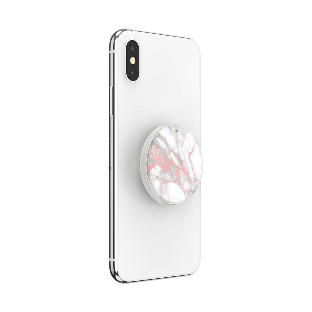 ポップミラー Rose Gold Lutz Marble Gloss スマホグリップ, PopSockets