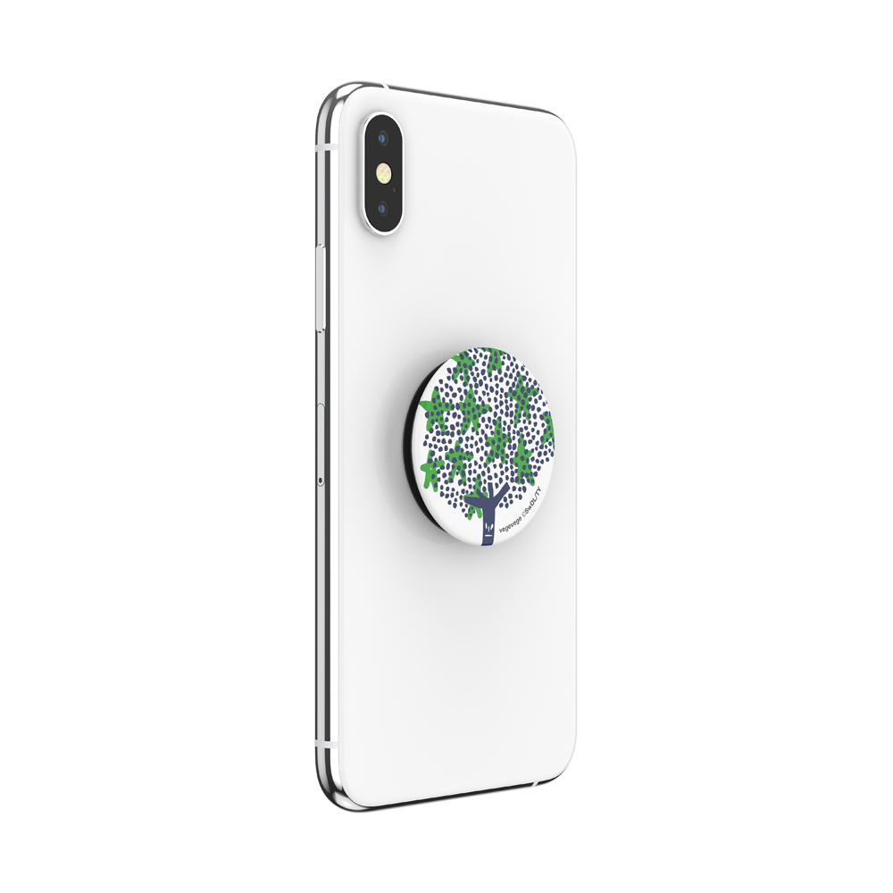 VegeVege Broccoli White, PopSockets