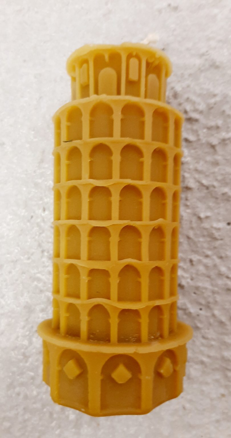 Tower of Pisa Beeswax Candle