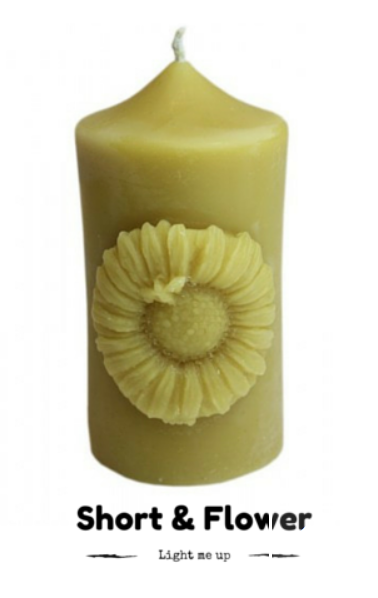 Sunflower beeswax candle