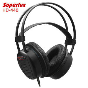 Original Superlux HD-440 Booming Bass Dynamic Closed-back Headset with Auto-adjustable Headband Noise Reduction