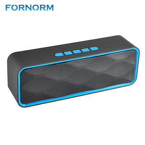 FORNORM Portable Rechargeable Wireless Speaker Mini Stereo Bluetooth Speakers Surround Compatible with Smartphones Tablets MP3