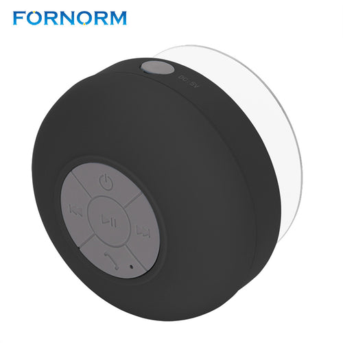 FORNORM Bluetooth Speakers Hands Free Phone Waterproof Shower Wireless Portable Mini Cute Car Stereo Bass Sound Speaker