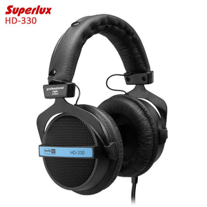 Original Superlux HD-330 Audiophile HiFi Stereo Headphones Semi-open Dynamic Clear Sound Soft Earmuff Single-sided Cable