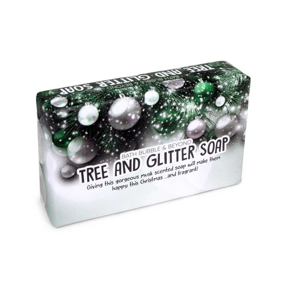 Tree and Glitter Soap Slice