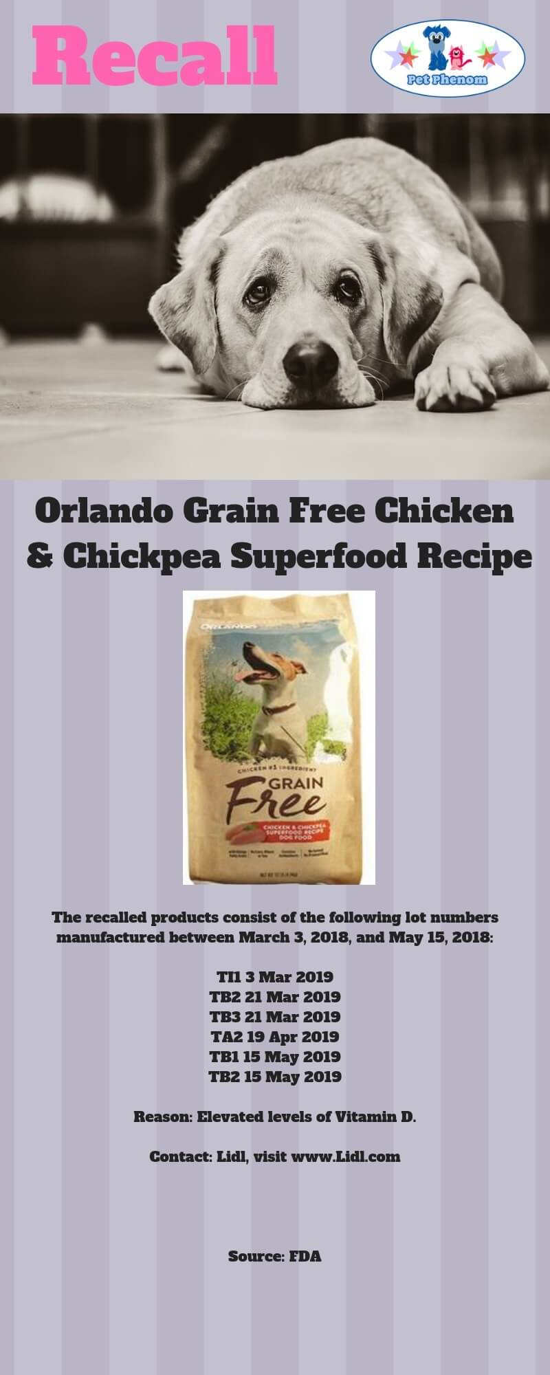 Orlando Grain Free Dog Food Recall
