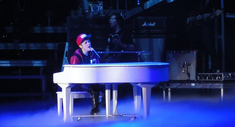 Justin Bieber Playing The Piano