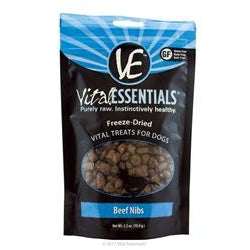 Vital Essentials Beef Nibs Freeze-Dried Raw Dog Treats, 2.5-oz-Dog-Vital Essentials-PetPhenom