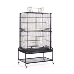 "Prevue Playtop Flight Cage with Stand Black 37""L x 23""W x 63""H-Bird-Prevue-PetPhenom"