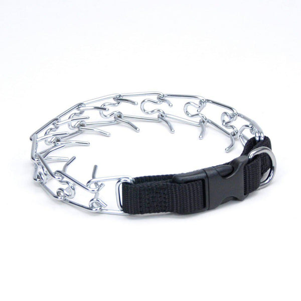 "Coastal Pet Products Titan Easy-On Dog Prong Training Collar with Buckle Medium Silver 17.5"" x 2.50"" x 2""-Dog-Coastal Pet Products-PetPhenom"
