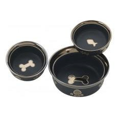 Ethical Products Spot Ritzy Copper Rim Cat Black 5in-Cat-Ethical Pet Products-PetPhenom