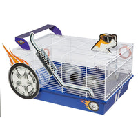 "Midwest Critterville Hod Rod Hamster Home White, Blue 19.5"" x 13.8"" x 9.8""-Small Animal-Midwest-PetPhenom"