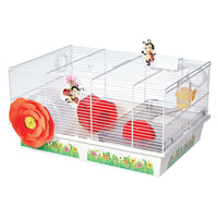 "Midwest Critterville Ladybug Hamster Home White, Red 19.5"" x 13.8"" x 9.8""-Small Animal-Midwest-PetPhenom"
