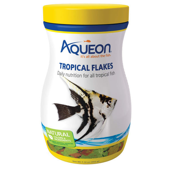 Aqueon Tropical Fish Food Flakes 7.12 ounces-Fish-Aqueon-PetPhenom
