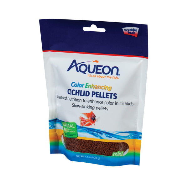 Aqueon Cichlid Color Enhancing Fish Food 4.5 ounces-Fish-Aqueon-PetPhenom