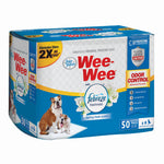 "Four Paws Wee-Wee Odor Control with Febreze Freshness Pads 50 count White 22"" x 23"" x 0.1""-Dog-Four Paws-PetPhenom"