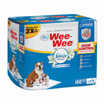 "Four Paws Wee-Wee Odor Control with Febreze Freshness Pads 100 count White 22"" x 23"" x 0.1""-Dog-Four Paws-PetPhenom"