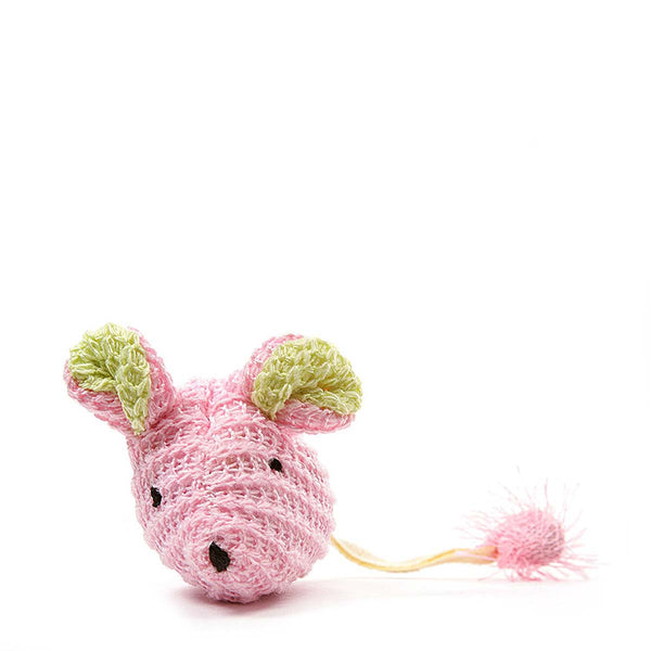 "Our Pets Wee Pinkie Mouse Cat Toy Pink 5"" x 1.5"" x 1""-Cat-Our Pets-PetPhenom"