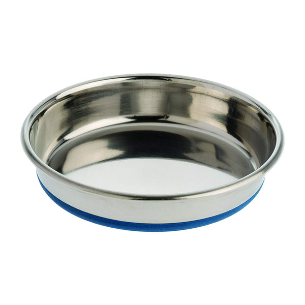 "Our Pets Durapet Premium Rubber-Bonded Stainless Steel Dish 1.75 cup Silver 6.25"" x 6.25"" x 1.25""-Cat-Our Pets-PetPhenom"