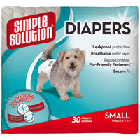 Simple Solution Disposable Dog Diapers 30 pack Small White-Dog-Simple Solution-PetPhenom
