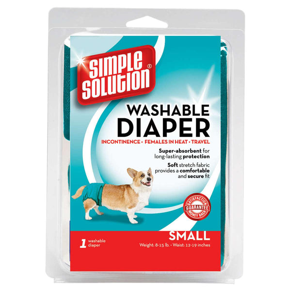 Simple Solution Washable Dog Diaper Small Teal