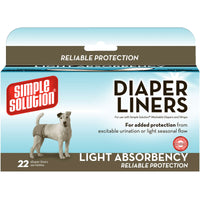 Simple Solution Disposable Dog Diaper Liners Light Flow 22 pack White-Dog-Simple Solution-PetPhenom