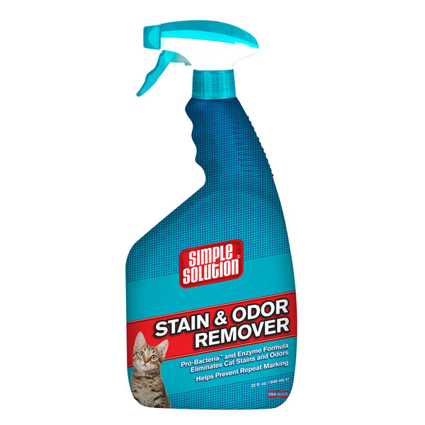 "Simple Solution Cat Stain and Odor Remover 32oz 2.9"" x 4.8"" x 10.75""-Cat-Simple Solution-PetPhenom"