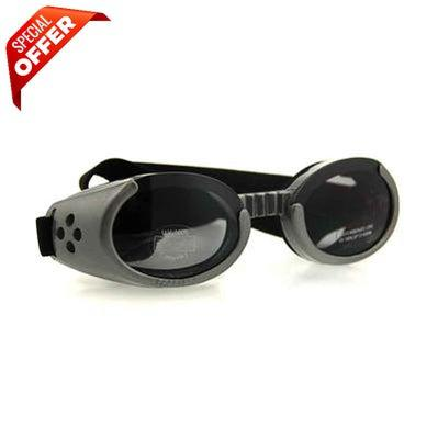 Doggles® Gray ILS Doggles with Smoke Lens & Straps -Large-Dog-Doggles®-PetPhenom
