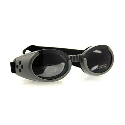 Doggles® Gray ILS Doggles with Smoke Lens & Straps -X-Small-Dog-Doggles®-PetPhenom