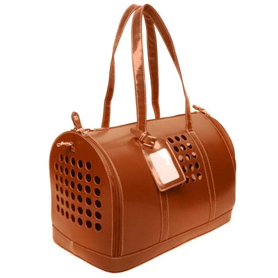 bark n bag® Carrier One in Saddle Tan-Dog-bark n bag®-PetPhenom