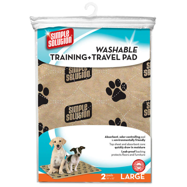 "Simple Solution Washable Training and Travel Pad 2 pack 30"" x 32"" x 0.1"""