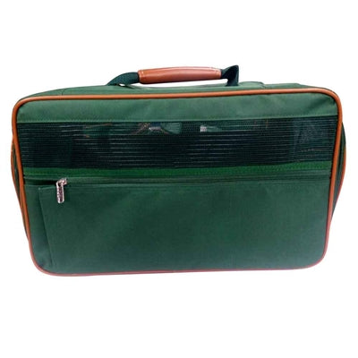 bark n bag® Bark-n-Bag Nylon Classic Pet Carrier - Green Nylon/Tan Trim -Small-Dog-bark n bag®-PetPhenom