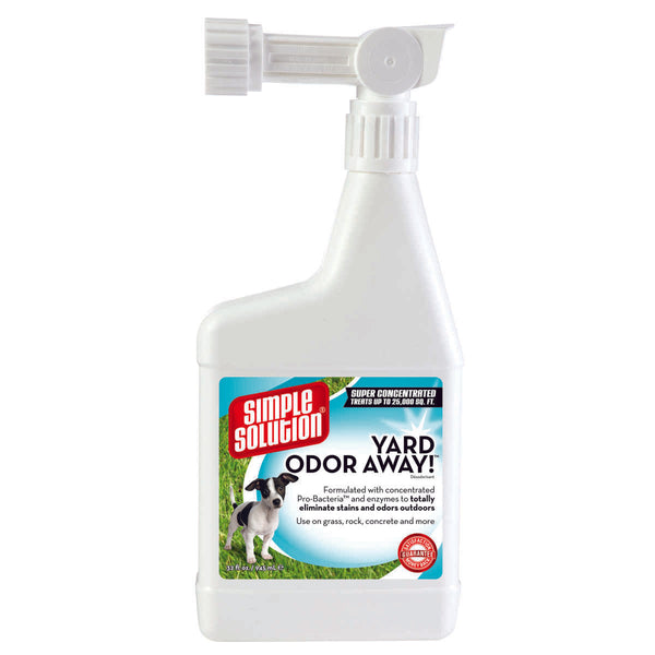 "Simple Solution Yard Odor Away Hose Spray Concentrate 32oz White 2.25"" x 5.25"" x 11.5""-Dog-Simple Solution-PetPhenom"