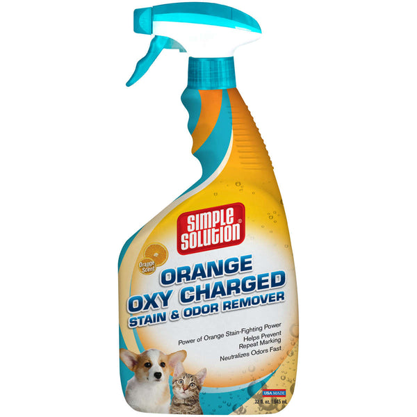 "Simple Solution Orange Oxy Charged Stain and Odor Remover 32oz 2.9"" x 4.8"" x 10.75""-Dog-Simple Solution-PetPhenom"
