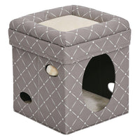 "Midwest Curious Cat Cube Mushroom 15.13"" x 15.13"" x 16.50""-Cat-Midwest-PetPhenom"