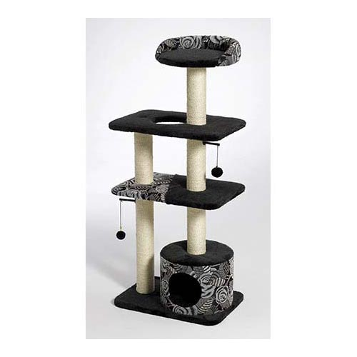 "Midwest Catitude Tower Cat Furniture Black 22"" x 15"" x 50.5""-Cat-Midwest-PetPhenom"