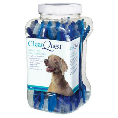 Clr Quest™ ClrQuest Dual-End Brush (50-Pack Canister)-Dog-Clr Quest-PetPhenom